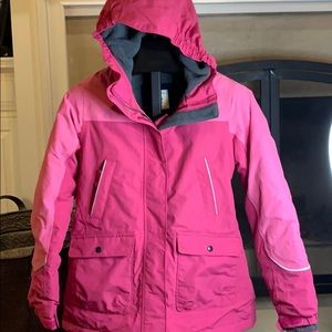 Lands' End pink The Squall winter coat M 10-12